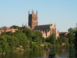 Worcester Cathedral & river Severn 1000w