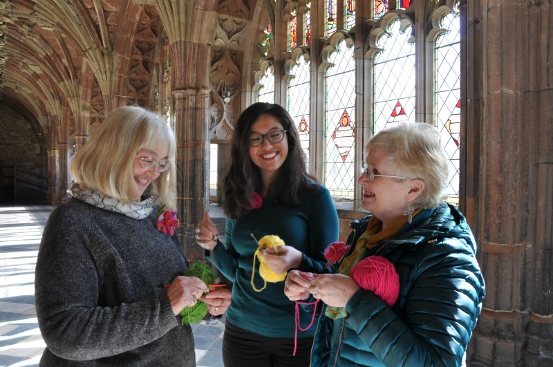Knit and Natter in the Cloisters